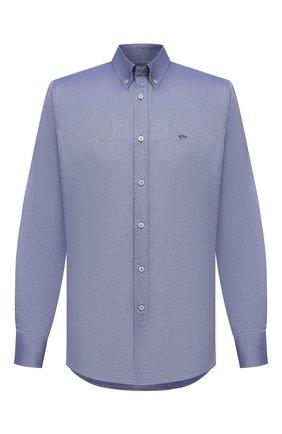 Мужская хлопковая рубашка PAUL&SHARK голубого цвета, арт. C0P3030/C00 | Фото 1
