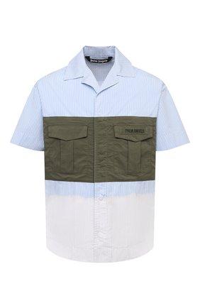 Мужская хлопковая рубашка PALM ANGELS разноцветного цвета, арт. PMGA092S21FAB0025610 | Фото 1