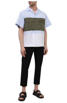 Мужская хлопковая рубашка PALM ANGELS разноцветного цвета, арт. PMGA092S21FAB0025610 | Фото 2