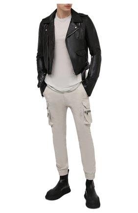Мужская кожаная куртка RICK OWENS черного цвета, арт. RU21S6771/LGW | Фото 2