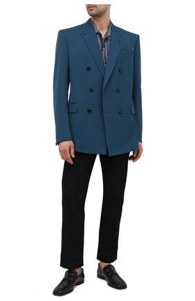 Мужской шерстяной пиджак BERLUTI бирюзового цвета, арт. R19GCL93-004   Фото 2
