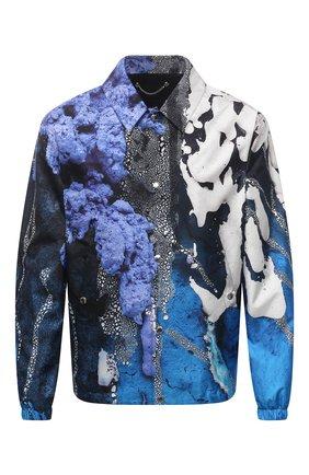 Мужская шелковая куртка BERLUTI синего цвета, арт. R190BL101-002   Фото 1