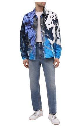 Мужская шелковая куртка BERLUTI синего цвета, арт. R190BL101-002   Фото 2