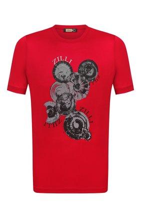Мужская хлопковая футболка ZILLI красного цвета, арт. MEV-NT270-BUBB1/MC01 | Фото 1