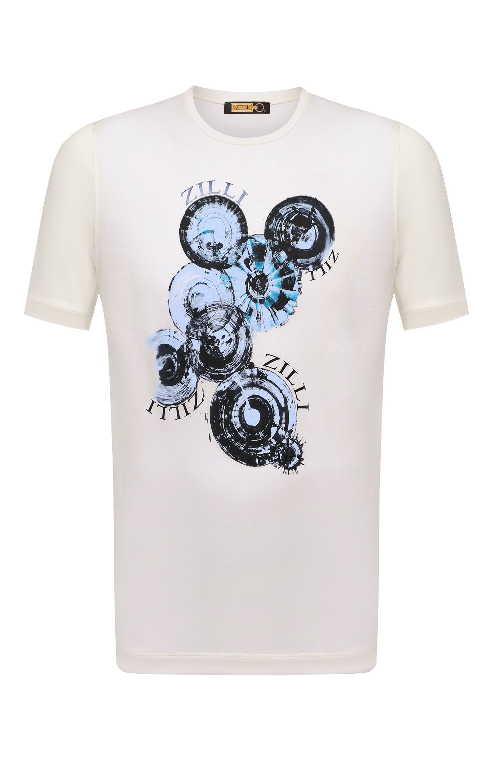 Мужская хлопковая футболка ZILLI белого цвета, арт. MEV-NT270-BUBB1/MC01   Фото 1