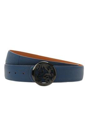 Мужской кожаный ремень ZILLI синего цвета, арт. MJL-CLAQE-01947/0035/120-130 | Фото 1