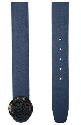 Мужской кожаный ремень ZILLI синего цвета, арт. MJL-CLAQE-01947/0035/120-130 | Фото 2