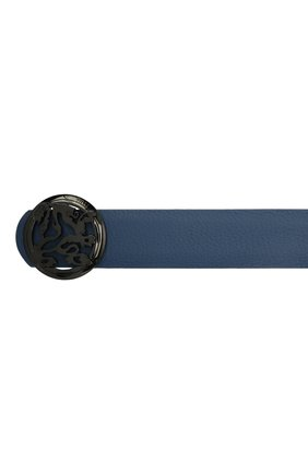 Мужской кожаный ремень ZILLI синего цвета, арт. MJL-CLAQE-01947/0035/120-130   Фото 3 (Случай: Формальный)