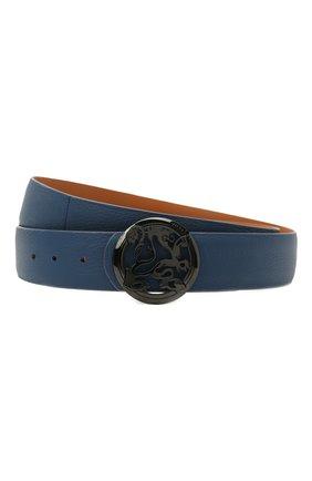 Мужской кожаный ремень ZILLI синего цвета, арт. MJL-CLAQE-01947/0035/135-140 | Фото 1