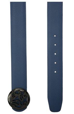 Мужской кожаный ремень ZILLI синего цвета, арт. MJL-CLAQE-01947/0035/135-140 | Фото 2