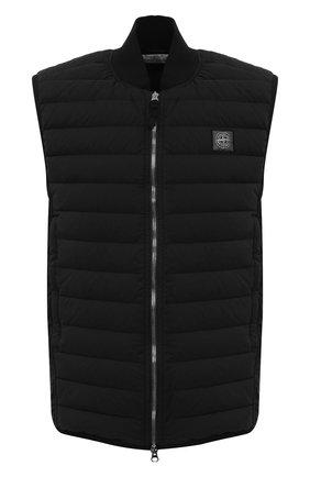 Мужской пуховый жилет STONE ISLAND черного цвета, арт. 7415G0225 | Фото 1