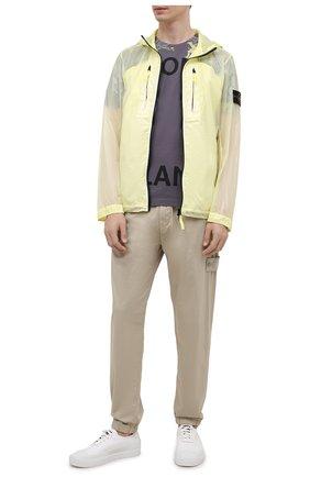 Мужская куртка STONE ISLAND желтого цвета, арт. 741543034   Фото 2