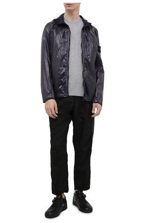 Мужская куртка STONE ISLAND темно-синего цвета, арт. 741543034 | Фото 2