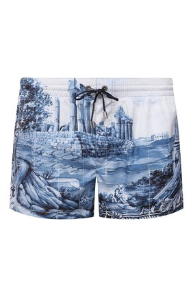 Мужские плавки-шорты DOLCE & GABBANA темно-синего цвета, арт. M4A06T/FHMCI | Фото 1