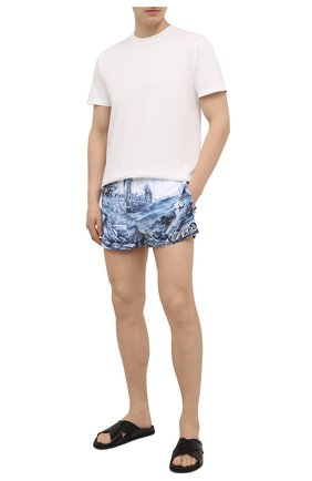 Мужские плавки-шорты DOLCE & GABBANA темно-синего цвета, арт. M4A06T/FHMCI | Фото 2
