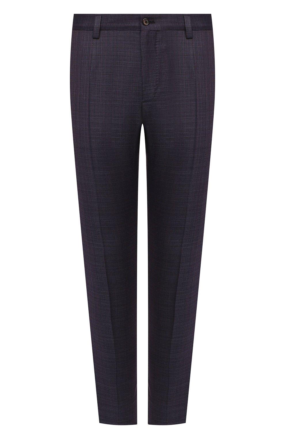 Мужские шерстяные брюки DOLCE & GABBANA темно-фиолетового цвета, арт. GY6IET/FU217   Фото 1