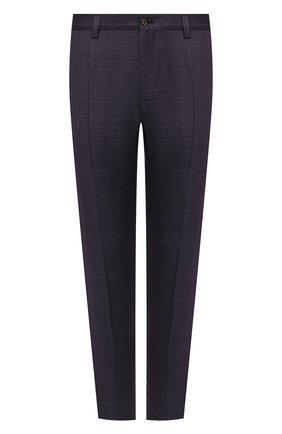 Мужские шерстяные брюки DOLCE & GABBANA темно-фиолетового цвета, арт. GY6IET/FU217 | Фото 1
