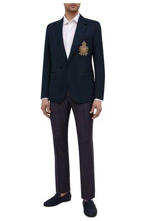 Мужские шерстяные брюки DOLCE & GABBANA темно-фиолетового цвета, арт. GY6IET/FU217 | Фото 2