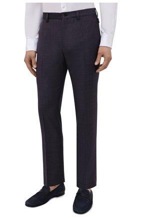 Мужские шерстяные брюки DOLCE & GABBANA темно-фиолетового цвета, арт. GY6IET/FU217   Фото 3
