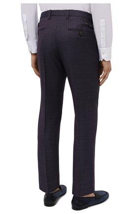 Мужские шерстяные брюки DOLCE & GABBANA темно-фиолетового цвета, арт. GY6IET/FU217   Фото 4