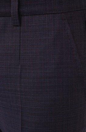 Мужские шерстяные брюки DOLCE & GABBANA темно-фиолетового цвета, арт. GY6IET/FU217   Фото 5
