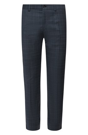 Мужские шерстяные брюки DOLCE & GABBANA синего цвета, арт. GY6IET/FQ2LW | Фото 1