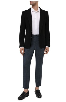 Мужские шерстяные брюки DOLCE & GABBANA синего цвета, арт. GY6IET/FQ2LW | Фото 2