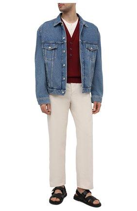 Мужской пуловер из шелка и хлопка DOLCE & GABBANA бордового цвета, арт. GXD75T/JBMH3 | Фото 2