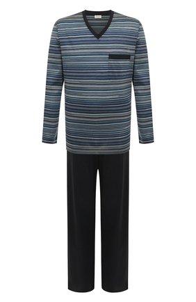 Мужская хлопковая пижама ZIMMERLI темно-синего цвета, арт. 3418-95402 | Фото 1