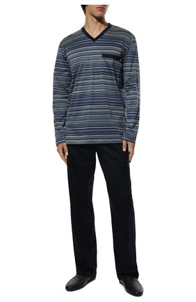 Мужская хлопковая пижама ZIMMERLI темно-синего цвета, арт. 3418-95402 | Фото 2