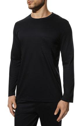 Мужская хлопковая пижама ZIMMERLI темно-синего цвета, арт. 286-95502 | Фото 3 (Рукава: Длинные; Длина (брюки, джинсы): Стандартные; Кросс-КТ: домашняя одежда; Длина (для топов): Стандартные; Материал внешний: Хлопок)