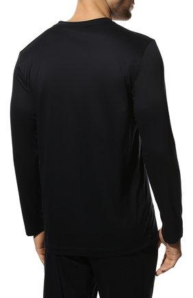 Мужская хлопковая пижама ZIMMERLI темно-синего цвета, арт. 286-95502 | Фото 4 (Рукава: Длинные; Длина (брюки, джинсы): Стандартные; Кросс-КТ: домашняя одежда; Длина (для топов): Стандартные; Материал внешний: Хлопок)
