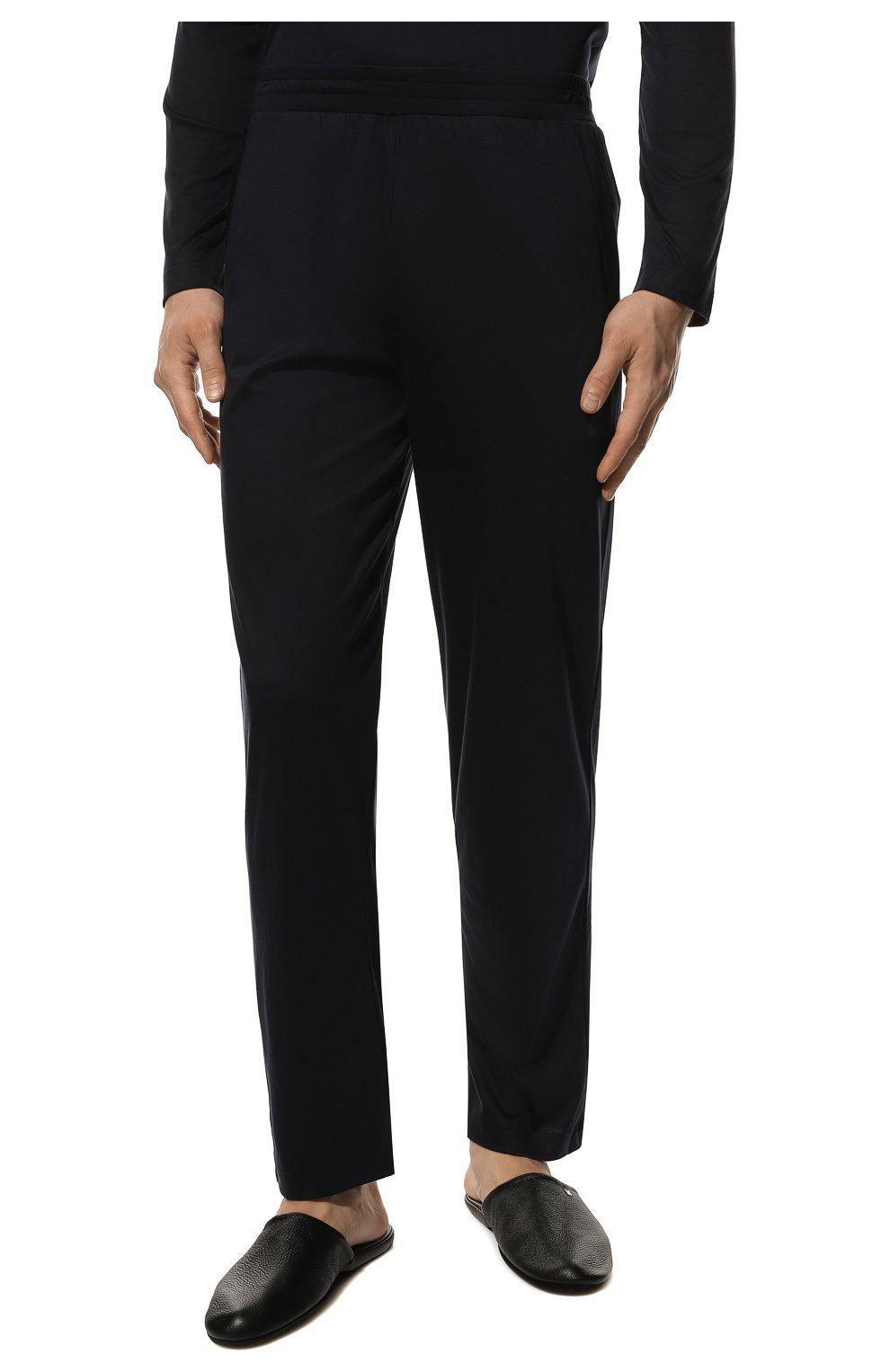 Мужская хлопковая пижама ZIMMERLI темно-синего цвета, арт. 286-95502 | Фото 5 (Рукава: Длинные; Длина (брюки, джинсы): Стандартные; Кросс-КТ: домашняя одежда; Длина (для топов): Стандартные; Материал внешний: Хлопок)