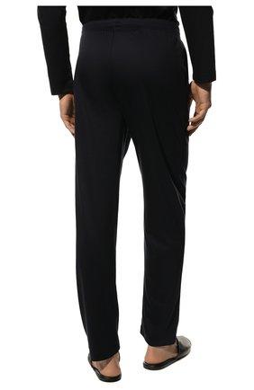 Мужская хлопковая пижама ZIMMERLI темно-синего цвета, арт. 286-95502 | Фото 6 (Рукава: Длинные; Длина (брюки, джинсы): Стандартные; Кросс-КТ: домашняя одежда; Длина (для топов): Стандартные; Материал внешний: Хлопок)