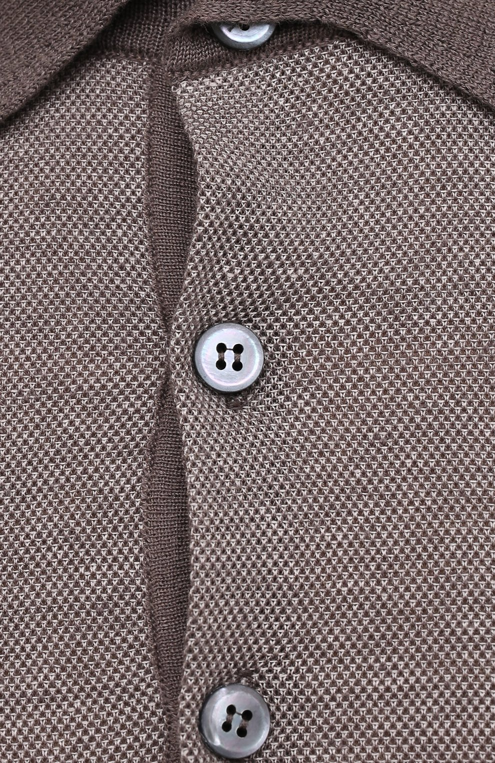 Мужское поло изо льна и кашемира BRIONI бежевого цвета, арт. UMR200/P0K14 | Фото 5