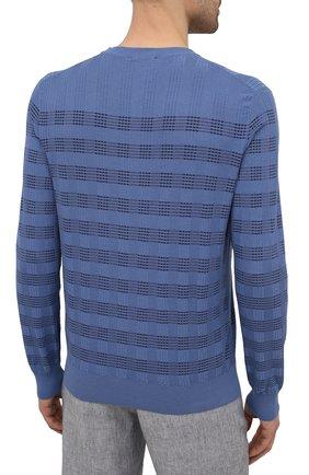 Мужской хлопковый джемпер BRIONI синего цвета, арт. UMQ90L/P0K11   Фото 4