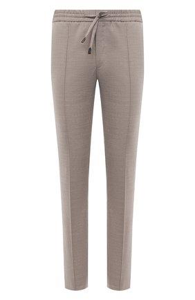 Мужские брюки из шерсти и льна BRIONI бежевого цвета, арт. RPM20L/P9AB9/NEW SIDNEY | Фото 1