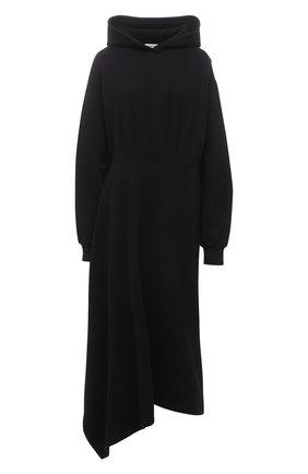Женское хлопковое платье BALENCIAGA черного цвета, арт. 659077/TJV44 | Фото 1