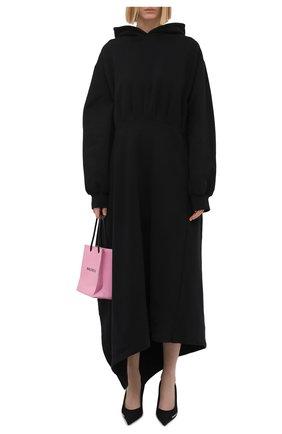 Женское хлопковое платье BALENCIAGA черного цвета, арт. 659077/TJV44 | Фото 2