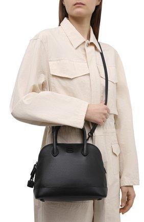 Женская сумка ville s BALENCIAGA черного цвета, арт. 645009/1Y517 | Фото 2 (Сумки-технические: Сумки top-handle, Сумки через плечо; Ремень/цепочка: На ремешке; Материал: Натуральная кожа; Размер: medium)