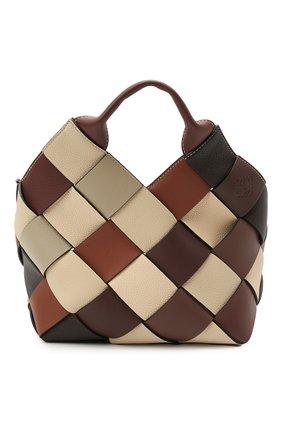 Женская сумка woven LOEWE коричневого цвета, арт. A521T32X04 | Фото 1