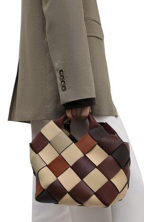Женская сумка woven LOEWE коричневого цвета, арт. A521T32X04 | Фото 2