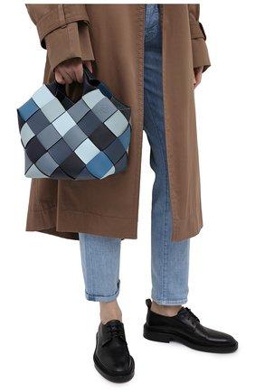 Женская сумка woven LOEWE синего цвета, арт. A521T32X06 | Фото 2