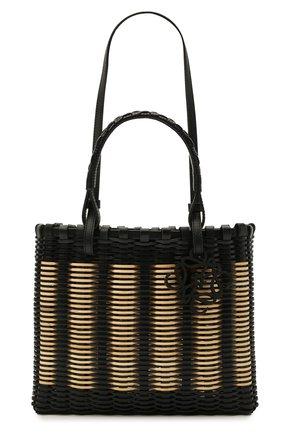 Женский сумка-тоут LOEWE черного цвета, арт. A657P28X01 | Фото 1