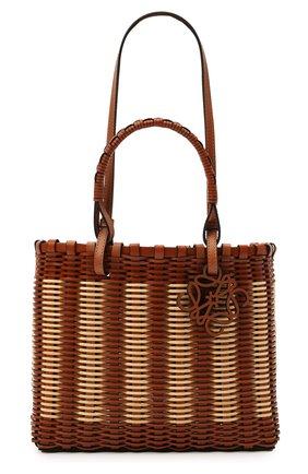 Женский сумка-тоут LOEWE коричневого цвета, арт. A657P28X01   Фото 1