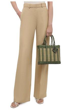 Женский сумка-тоут LOEWE зеленого цвета, арт. A717P28X01   Фото 2 (Материал: Натуральная кожа; Размер: medium; Сумки-технические: Сумки-шопперы)