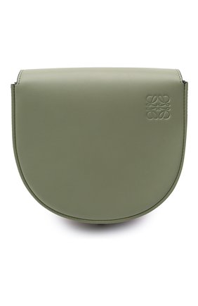 Женская сумка heel LOEWE зеленого цвета, арт. A894A01X02   Фото 1 (Сумки-технические: Сумки через плечо; Материал: Натуральная кожа; Ремень/цепочка: На ремешке; Размер: mini)