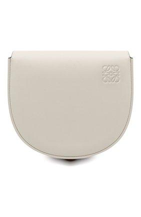 Женская сумка heel LOEWE белого цвета, арт. A894A01X02 | Фото 1 (Материал: Натуральная кожа; Сумки-технические: Сумки через плечо; Ремень/цепочка: На ремешке; Размер: mini)