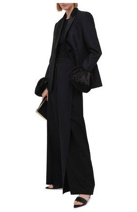 Женский шерстяной жакет LOEWE темно-синего цвета, арт. S540Y03X07 | Фото 2