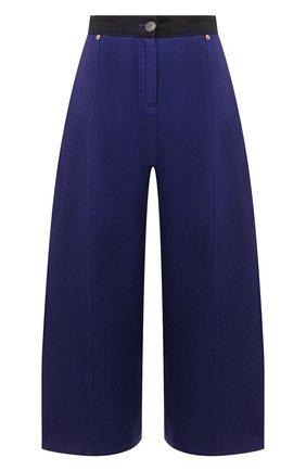 Женские брюки из вискозы и льна LOEWE синего цвета, арт. S540Y04X24 | Фото 1 (Силуэт Ж (брюки и джинсы): Широкие; Женское Кросс-КТ: Брюки-одежда; Материал внешний: Вискоза, Лен; Длина (брюки, джинсы): Укороченные; Стили: Спорт-шик)
